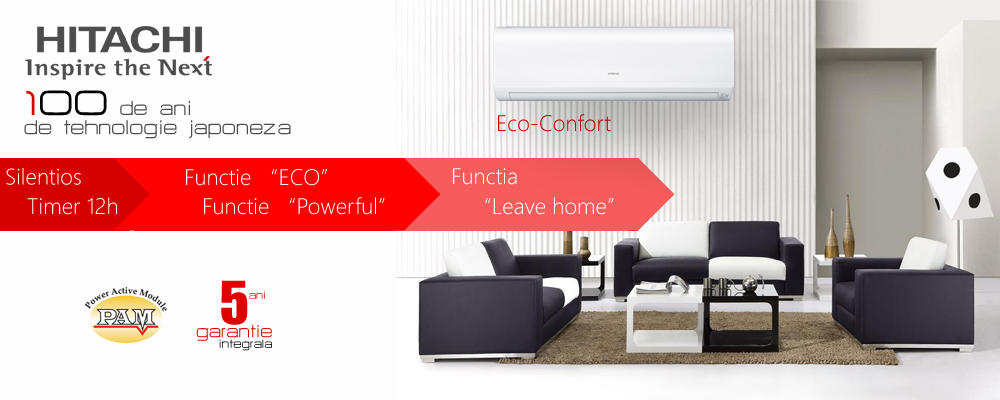 Banner Hitachi Eco Confort