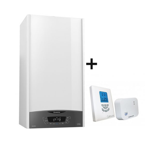 centrala termica ariston clas one 24 + termostat salus
